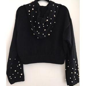 Zara pearly hooded sweatshirt